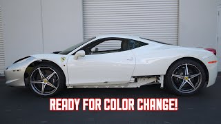 Download My WRECKED Ferrari 458 gets Bondo work and ready for Color! Video