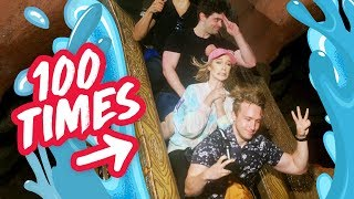 Download CAN WE RIDE SPLASH MOUNTAIN 100 TIMES? Video