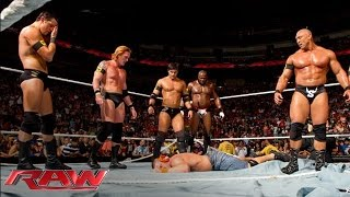 Download The Nexus interrupt the main event and reap destruction: Raw, June 7, 2010 Video