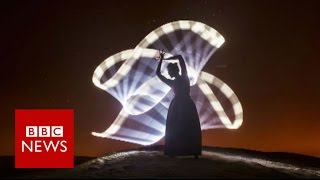 Download Light painting in the 'blue hour' - BBC News Video