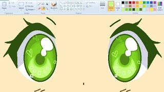 Download 【 Real Time 】 How I Draw Anime Eyes using Mouse on MS Paint Video