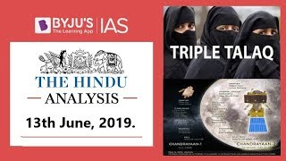 Download 'The Hindu' Analysis for 13th June, 2019 (Current Affairs for UPSC IAS) Video
