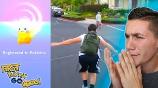 Download REACTING TO MY FIRST POKEMON GO VIDEO! 1,000 Videos on YouTube! Video