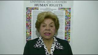Download Dionicia Ponce, Argentina, reading article 28 of the UDHR in Spanish Video