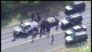 Download Police Chase Truck w/ Trailer through Dallas and Denton Video