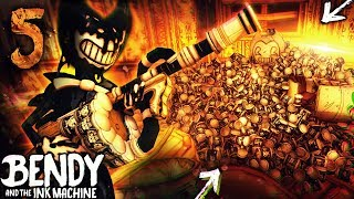 Download CHAPTER 5 BACON SOUP MINI-GUN VS EVERY BOSS!! O-O | Bendy and the Ink Machine [Chapter 4] Hacking Video