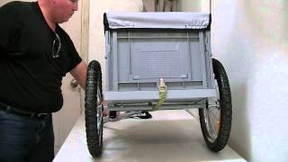 Download i10 Direct bicycle cargo trailer with foldable and removable plastic bin Video