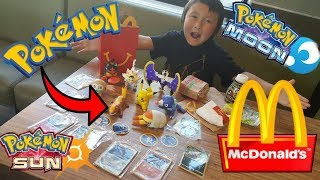 Download SECRET Way To Get Every POKEMON TOY At MCDONALDS In 1 HAPPY MEAL!! EARLY Sun & Moon POKEMON CARDS!! Video