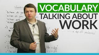 Download English Vocabulary: Talking about WORK Video