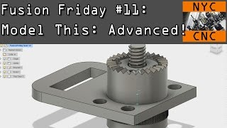 Download Fusion Friday #11: Using Loft to model Gear & Knurling! Video