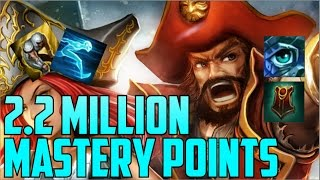 Download Silver Support Gangplank 2,200,000 MASTERY POINTS- Spectate Highest Mastery Points on Gangplank Video