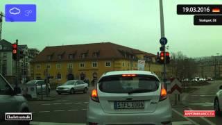 Download Driving through Stuttgart (Germany) from Degerloch to Rathaus 19.03.2016 Timelapse x4 Video
