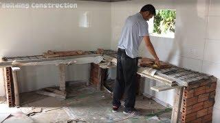 Download Manual Construction Techniques - Building Concrete Kitchen Cooking Table Video