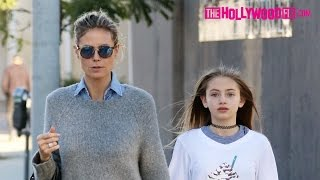 Download Heidi Klum Takes Her Daughter Out Shopping On Melrose Avenue In West Hollywood 12.17.16 Video