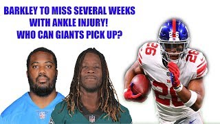 Download New York Giants- Saquon Barkley to miss time what running backs could the Giants pick up? Video