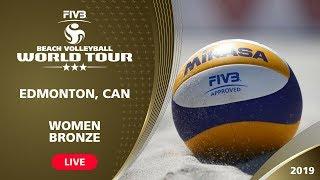 Download LIVE 🔴 - Women's Bronze Medal | 3* Edmonton (CAN) - 2019 FIVB Beach Volleyball World Tour Video