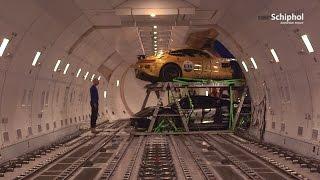 Download Exclusieve auto's Gumball3000 vliegen via Schiphol Video