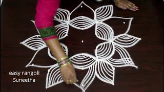 Download Margazhi kolam designs with 7 dots - Dhanurmasam muggulu Video