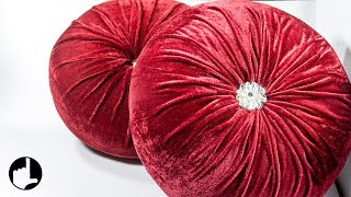 Download DIY Decoration Ideas for Home: Round Pleated Pillows by HandiWorks #123 Video