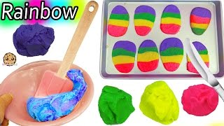 Download Making Rainbow Dough For Easter Egg Sugar Cookies with Chef Barbie Video Video