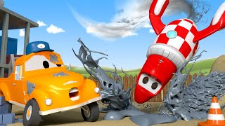 Download Rocky The Rocket is a mess - Tom the Tow Truck's Car Wash | Cars cartoons for kids Video