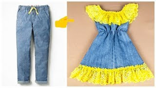 Download تحويل سريع من بنطلون قديم لفستان طفله ررررروعه Video