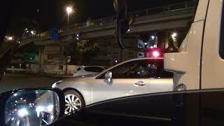 Download 無線が鳴きサイレンが吠える!警護車、パトカー、覆面が緊急走行などで街中を疾走! Video