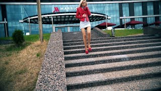 Download Confident Walking Near River and Fountains in High Sexy Heels. High Heel pumps walking Video