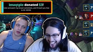 Download Imaqtpie Donated To Tyler1 - Talks About Why He Is D2 Still | Tobias Fate Baron Steal | LoL Moments Video