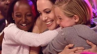 Download Angelina Jolie Struggling To Keep Homesick Children Happy Months After Brad Pitt Split Video