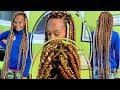 Download Protective Style | JUMBO TRIANGLE PART INDIVIDUAL BRAIDS | No Rubber Bands Video