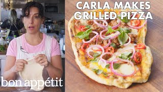 Download Carla Makes Grilled Pizza | From the Test Kitchen | Bon Appétit Video