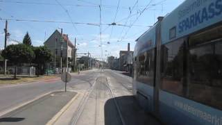 Download Straßenbahn Graz Trams in Graz Route 1 Hauptplatz ~ Eggenberg Unfallkrankenhaus Video