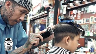 Download Textured Pompadour with Double Razored Line | Liem Barber Shop's Collection Video