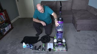 Download Bissell ProHeat 2X Revolution Pet Pro Review. Easy DIY carpet cleaning! Video