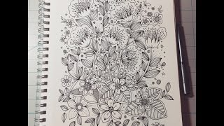 Download Flower Designs - doodle art journal entry Video