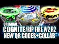 Download QR CODES ORIGINAL COGNITE C3 RIPFIRE W2 R2 - BEYBLADE BURST APP QR CODES Video