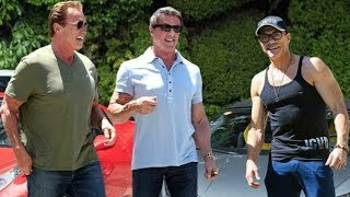 Download Arnold Schwarzenegger, Sylvester Stallone and Jean-Claude Van Damme Training 2018 Video
