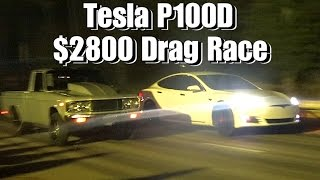 Download TESLA P100D $2800 CASH DAYS DRAG RACE! Video