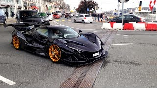 Download Apollo IE hypercar hits the streets for the first time - 6,3l V12 STRAIGHT PIPES INSANE SOUND Video