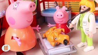 Download Peppa Pig Juguetes en Español 🐷 Chispas come chocolate y Peppa lo lleva al veterinario Video
