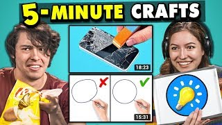 Download Adults React To And Try 5-Minute Crafts (Do They Work?) Video