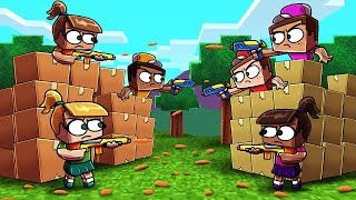 Download Minecraft | BOX FORT VS BOX FORT CHALLENGE! (Guns, Turrets, Boxes) Video