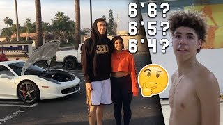 Download LaMelo Ball Answers How TALL HE IS! LiAngelo Showing off FERRARI with FANS! Video