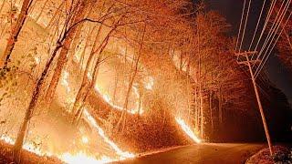 Download Gatlinburg Fire Ski Mountain Road Video