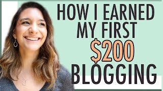 Download MAKE MONEY BLOGGING | HOW I EARNED MY FIRST $200 BLOGGING Video