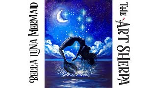 Download How to paint a Mermaid leaping out of the Water at Night Live Streaming Video