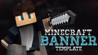Download MINECRAFT EPIC BANNER TEMPLATE - Minecraft Banner Speedart [#62] | AtmoArtworks Video