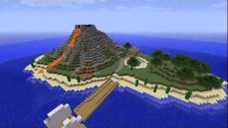 Download #1 Minecraft Timelapse Volcanic Island Video
