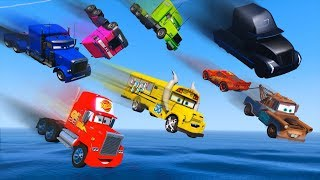 Download Cars Party Trucks Mack Gale Beaufort Miss Fritter Truck Jerry - McQueen and Friends Video for Kids Video